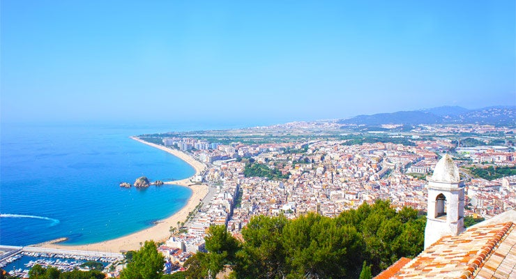 Find where to park in Blanes, Spain