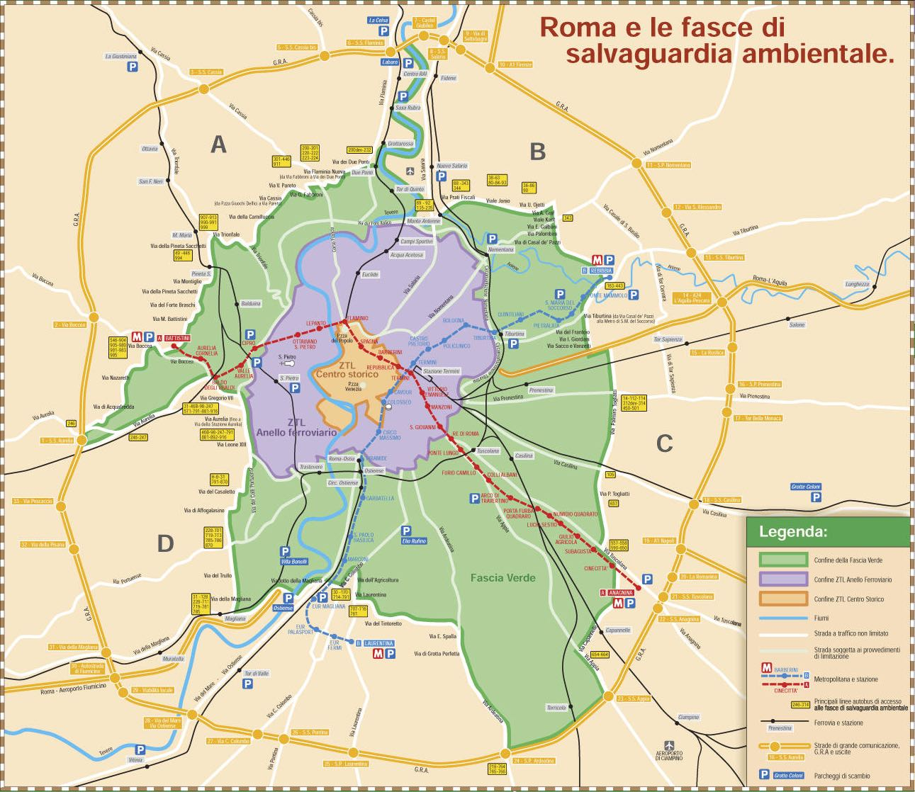 Parking in the Limited Traffic Zone (ZTL) of Rome