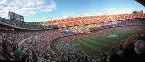 Camp Nou en Les Corts