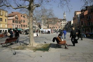 Campo santa margherita a venezia
