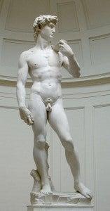 David di Michelangelo nella Galleria dell'Accademia