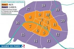 Zones de stationnement à Paris