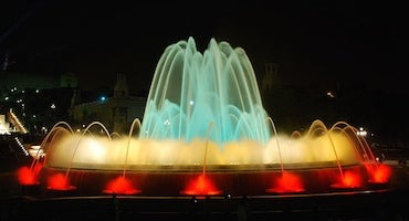 Car parks near the Montjuic Magic Fountain in Parclick