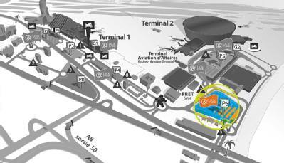 Aéroport de Nice Côte d'Azur Terminal 2 - P6 Longue durée