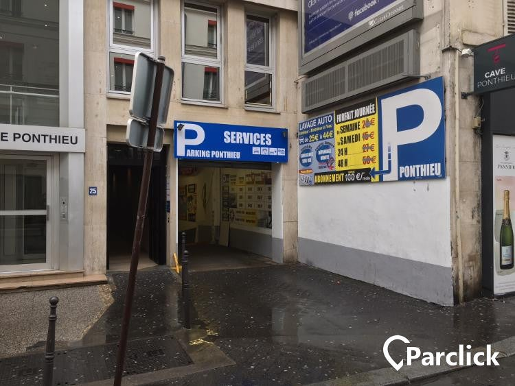 car park in rue de ponthieu 25 in paris parclick. Black Bedroom Furniture Sets. Home Design Ideas